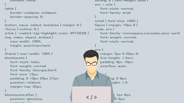プログラミングをするビジネスマン